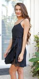 Wrap Ruffled Mini Dress