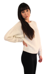 Ivory Dolman Drop Shoulder Knit Sweater