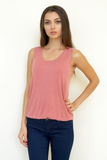 Loose Fit Scoop Neck Tank