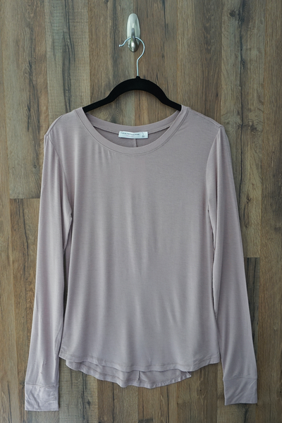 Pale Pink The Essential Long Sleeve Knit Top