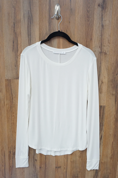 Off White Essential Long Sleeve Knit Top