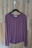 Purple The Essential Long Sleeve Knit Top