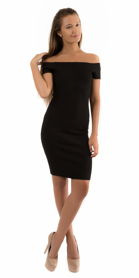 Fitted Crepe Cowl Neck Dress
