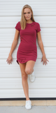 Red Tattered Jersey T Shirt Dress