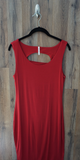 Red Cut Out Back Bodycon Dress