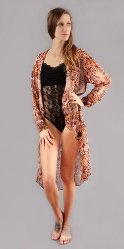 Sheer Floral Cover Up