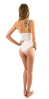 White Plunge V Neck Tank Top Bodysuit