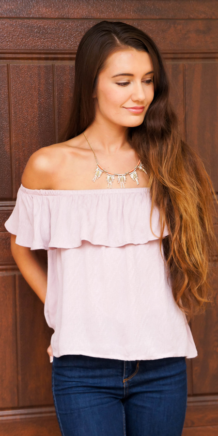 Floral Smocked Off Shoulder Tunic
