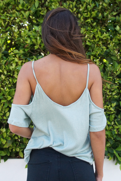 Criss Cross Cold Shoulder Top