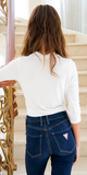 White Keyhole Wrap Front Crop Top