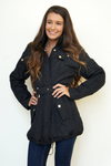 Black Quilted Puffer Coat