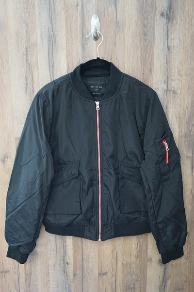Black Classic Flight Bomber Jacket