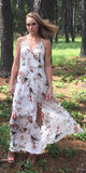 Ivory White Floral Maxi Dress