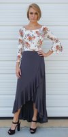 Wrapped Ruffle Maxi Skirt