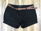 Belted Cotton Girlfriend Shorts