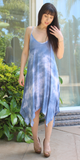 Blue Tie Dye Asymmetrical Sundress