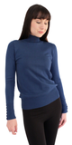 Soft Button Sleeve Turtleneck