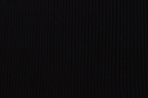 Black Long Sleeve Ribbed Knit Turtleneck