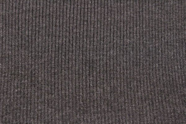 Gray Long Sleeve Ribbed Knit Turtleneck