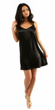 Black Satin Slip Dress