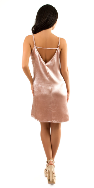 Pink Satin Slip Dress