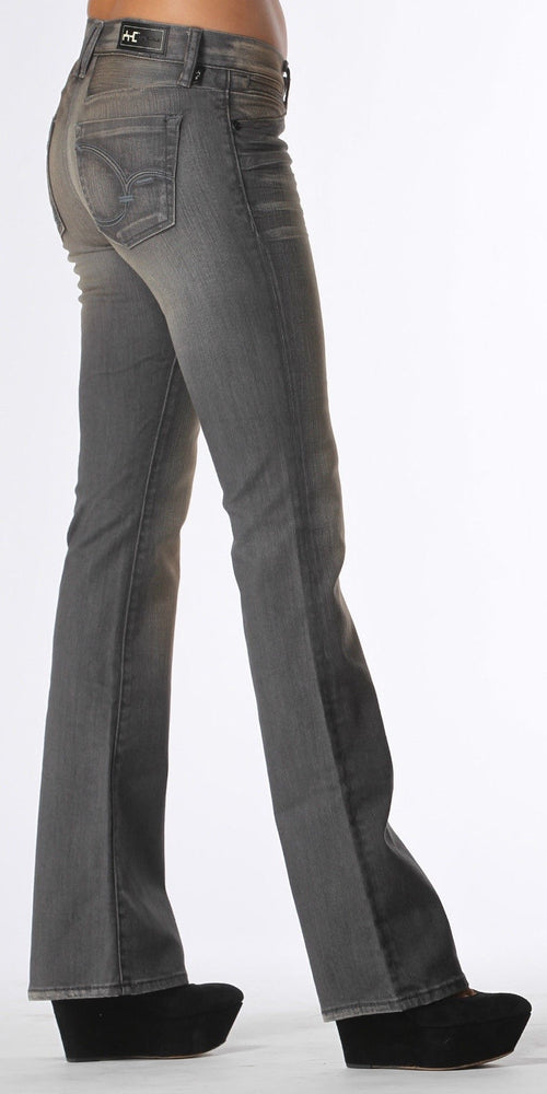 Faded Grey Bootcut Jeans