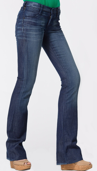 Indigo Wash Faded Bootcut Jeans