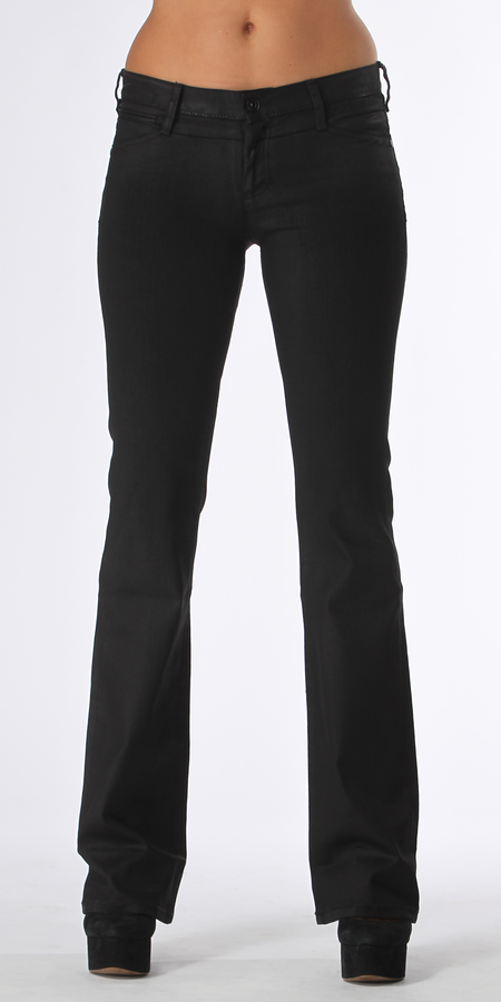 Coated Stretch Black Skinny Jeans