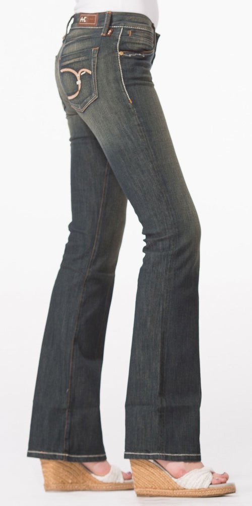 Faded Wash Bootcut Jeans
