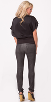 Metallic Coated Black Skinny Jeans