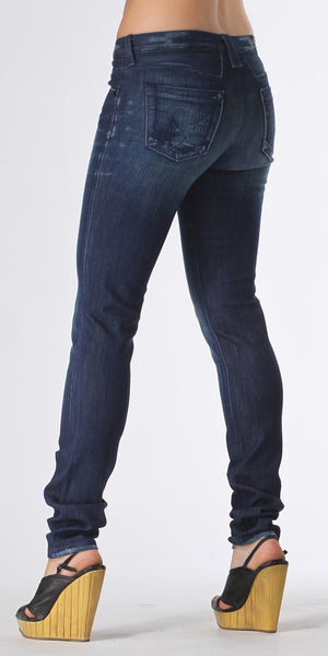 Distressed Blue Skinny Jeans