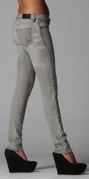 Stretch Light Grey Skinny Jeans