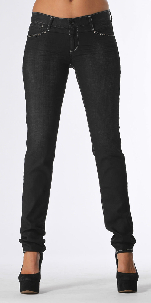Beaded Black Skinny Jeans