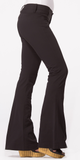 Black Stretch Flare Leg Pants