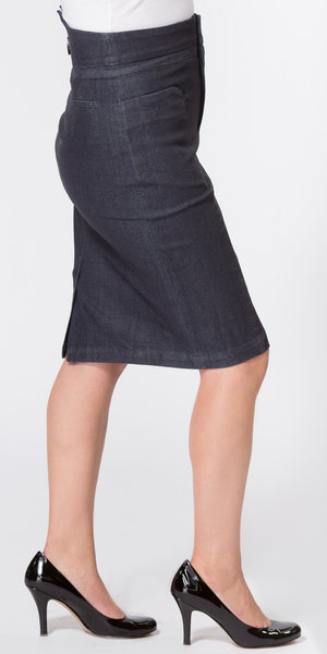 Blue High Waisted Denim Skirt