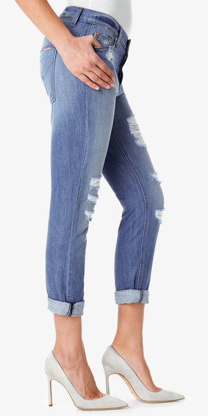 Leigh Distressed Crop Boyfriend Jeans