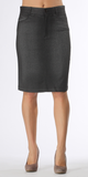 Faded Charcoal Grey Pencil Skirt