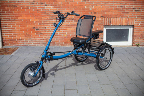 Pfiff Scooter Trike L (Long) Electric Tricycle, Blue - Buy Online