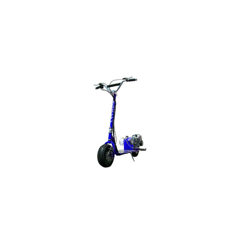 SCOOTERX DIRT DOG 49CC GAS SCOOTER - w/MX Style Adjustable Bar, Red/Black/Blue - Buy Online