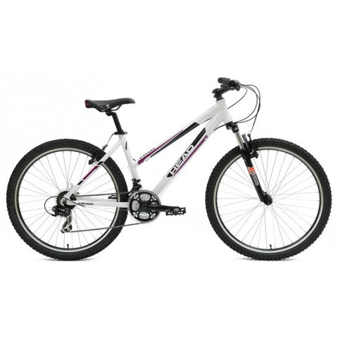 "Head Aim W26 Mtb 26"" 21 Speed Step-Through Mountain Bike, White - Buy Online"