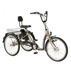 Pfiff Comfort 24 7 Speed Ansmann Adult Electric Tricycle, Aluminum