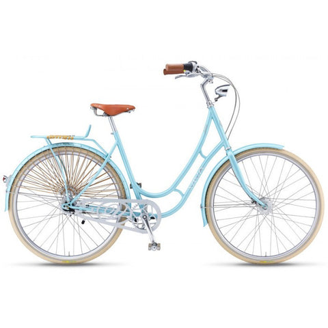 Viva Juliett Classic 7 B.47 7 Speed City Cruiser Bicycle With Lights, Blue - Buy Online