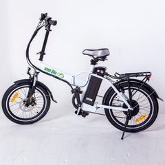 GREEN BIKE USA GB1 Folding Electric Bike Compact Aluminium Frame Pedal Twist Throttle