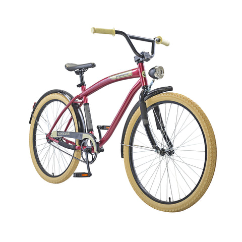 Body Glove Breakwater 26.1 Men'S Cruiser Bicycle, Maroon - Buy Online