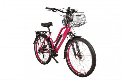 X-Treme Catalina Beach Cruiser 48V 500W Long Range Step-Through Electric Beach Cruiser Bicycle