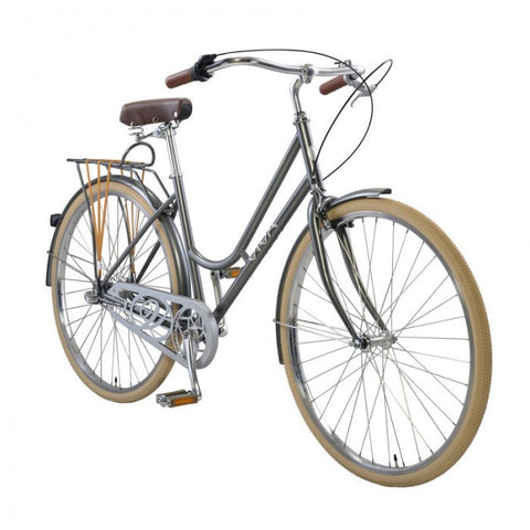 Viva Dolce Classic G.47 3 Speed Step-Through City Cruiser Bicycle, Gray - Buy Online