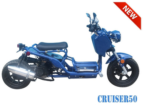 TaoTao USA Cruiser 50 Moped Gas Street Legal, 50CC - Buy Online