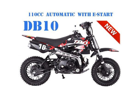 TaoTao DB10 Automatic 110CC Kids' Off-Road Dirt Bike, Electric Start - Buy Online