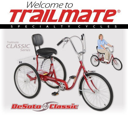 "Trailmate Desoto Classic 24"" Alloy Wheels Adult Trike - Buy Online"