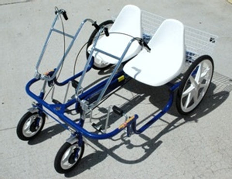 "Trailmate Double Joyrider 24"" Side-By-Side Tandem Trike - Buy Online"